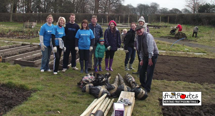 Fruit Routes EKG Orchard Planting with Barclays CSR Team & Volunteers