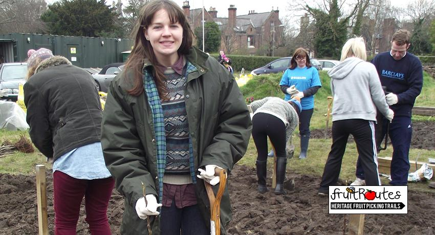 Fruit Routes volunteer Sarah Pugh